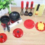 13PCS Utensils Cooking Pots Pans Food Dishes Kids Cookware
