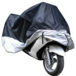 Motorcycle Bike Moped Scooter Cover Waterproof Rain UV Dust Prevention Dustproof Covering – XL/Black/Silver