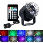 6W 15-Color Water Wave Projector Light Projecting Lamp with Remote Controller for Parties Accasions – EU Plug