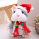Electric Smart Little Talking Hamster Record Repeat Doll – Grey