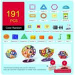 Magnetic Blocks Building Toys Educational Learning Game for Kids – 191Pcs/Set