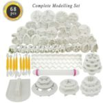 68Pcs Cake Mold Set Plunger Fondant Cutter Cake Biscute Cooking Molds Tools Kit