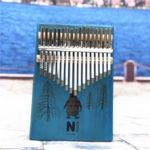 17 Keys Kalimba Sanza Thumb Piano Mahogany Wood Finger Piano – Penguin