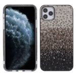 Gradient Three-colour Rhinestone Decoration Plastic + TPU Phone Case for Apple iPhone 11 Pro Max 6.5-inch – Silver/Brown/Black