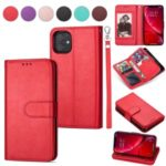 9 Card Slots Cell Phone Leather Stand Case for iPhone 11 6.1 inch – Red