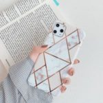 Geometric Stitching Marble Pattern IMD TPU Back Case for iPhone 11 Pro Max 6.5 inch (2019) – Style A