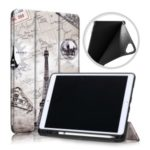 Patterned Printing Leather Tri-fold Stand Smart Tablet Casing with Pen Slot for Apple iPad 10.2 (2019) – Tower