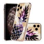 Unique Embossed 3D Diamond Texture TPU Mobile Cover for iPhone 11 Pro 5.8 inch – Purple Pineapple