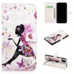 Pattern Printing Light Spot Decor Stand Wallet Leather Phone Cover for iPhone 11 6.1 inch (2019) – Beautiful Girl