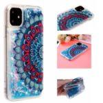 Pattern Printing Embossed Glitter Powder Quicksand TPU Case for iPhone 11 6.1 inch – Mandala Flower