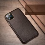 XOOMZ Litchi Grain Genuine Leather Phone Casing for iPhone 11 Pro Max 6.5 inch (2019) – Coffee