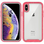 Starry Sky Pattern TPU Edge + PC + Acrylic Detachable Drop-resistant Phone Case iPhone XS/X 5.8-inch – Red