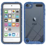 Anti-shock TPU + Plastic + Acrylic Hybrid Clear Back Shell for iPod Touch 5/6/7 – Dark Blue