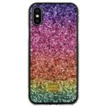 Rainbow Surface Rhinestone Decor Case for iPhone X/XS 5.8 inch – Purple