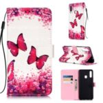 Light Spot Decor Pattern Printing Leather Wallet Stand Phone Cover Case for Samsung Galaxy A20s – Butterfly
