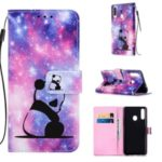 Pattern Printing PU Leather Wallet Phone Casing for Samsung Galaxy A20s – Panda