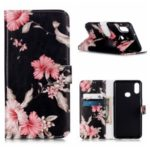 Pattern Printing Wallet Leather Stand Phone Cover for Samsung Galaxy A10s – Vivid Flowers
