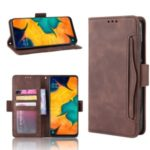 Wallet Leather Stand Case for Samsung Galaxy A20/A30/M10s – Brown