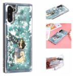 Embossed Glitter Powder Quicksand TPU Back Shell for Samsung Galaxy Note 10/Note 10 5G – Dog with Backpack