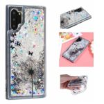 Embossed Glitter Powder Quicksand TPU Back Case for Samsung Galaxy Note 10 Plus/Note 10 Plus 5G – Dandelion