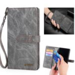 MEGSHI Wallet Flip Leather Case for Samsung Galaxy A70 – Grey