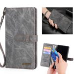 MEGSHI Wallet Flip Leather Protective Case for Samsung Galaxy A40 – Grey