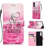 Pattern Printing Light Spot Decor Leather Wallet Stand Case for Sony Xperia 5 – Stay Beautiful