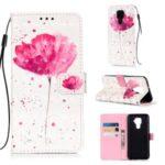 Printing Light Spot Decor Leather Wallet Casing for Huawei Mate 30 Lite/nova 5i Pro – Vivid Flower