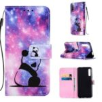 Pattern Printing Leather Wallet Case for Huawei Honor 9X / 9X Pro – Panda