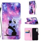 Pattern Printing PU Leather Wallet Protective Case for Huawei Nova 5 / Nova 5 Pro – Sad Panda