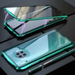 LUPHIE Bat Magnetic Metal Frame + Tempered Glass Alll-side Shell for Huawei Mate 30 Pro – Cyan
