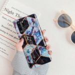Geometric Stitching Marble Pattern IMD TPU Phone Cover for Huawei P30 Pro – Style A