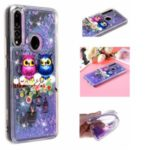 Embossed Glitter Powder Quicksand TPU Back Shell for Huawei P Smart Z – Couple Owls