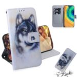 Pattern Printing PU Leather Protection Wallet Stand Phone Cover for Huawei Mate 30 – Wolf