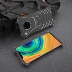 Bat Series Hollow Shockproof Metal Phone Shell for Huawei Mate 30 – Black