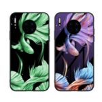 Luminous Tempered Glass+PC+TPU Cover Mobile Shell for Huawei Mate 30 – Fish