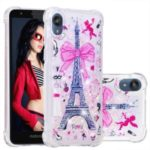 Shockproof Quicksand Glitter Powder Sequins TPU Back Shell for Motorola Moto E6 – Eiffel Tower