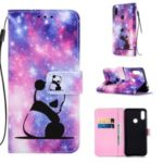 Pattern Printing PU Leather Wallet Protective Case for Xiaomi Redmi Note 7 / Redmi Note 7 Pro (India) – Sad Panda