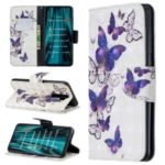 Pattern Printing Light Spot Decor Magnetic Leather Wallet Cover for Xiaomi Redmi Note 8 Pro – Flocks Butterflies