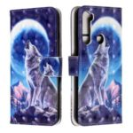 Light Spot Decor Pattern Printing Wallet Leather Phone Casing with Strap for Xiaomi Redmi Note 8 – Moon and Wolf