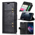 Rivet Decorated PU Leather Wallet Case for Xiaomi Redmi 8A – Black
