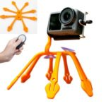 Creative Multipurpose Holder Portable Silicone Phone Sports Camera Bracket Flexible Octopus Tripod Stand Mount – Orange