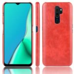 Litchi Skin Leather Coated Hard PC Case for OPPO A9 (2020) / A11x / A5 (2020) – Red