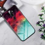 Gradient Color Tempered Glass Back Phone Cover for OPPO A9 (2020)/A11x – Colorful Star Clouds