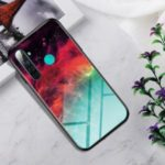 Gradient Color Tempered Glass + PC + TPU Hybrid Case for OPPO Realme 5 – Colorful Star Clouds