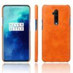 KSQ Crazy Horse PU Leather Coated Hard PC Case for OnePlus 7T Pro – Orange