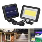 100-LED COB Solar Security Night Light Outdoor Garden Wall Light