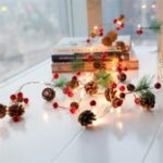 2.2m 20-LED Pine Cones Pine Needle Red Berry Copper Wire String Light for Christmas Decor Holiday Decoration