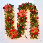 2.7M Christmas Decoration Rattan LED String Christmas Ornament – Red
