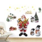 50 x 70cm Santa Claus Merry Christmas Removable Wall Sticker Art Decal Mural DIY Wallpaper